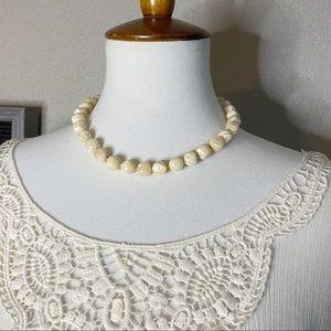 Vintage Polished Shell Boho Choker Necklace